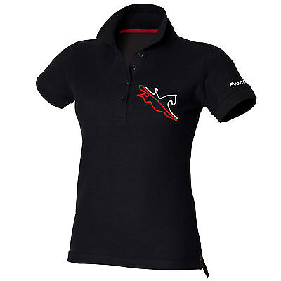 Horse Riding Polo Shirt Ladies Women's Girls Black Equestrian EVENTING