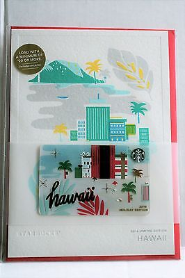 NEW RARE 2016 Starbucks Hawaii CHRISTMAS HOLIDAY City Gift Card LIMITED EDITION