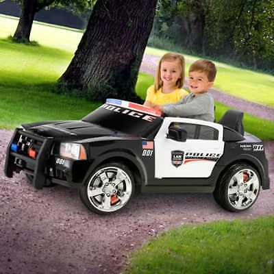 cool car toys for 5 year olds Dodge Police 12 V electric cars for kids to ride