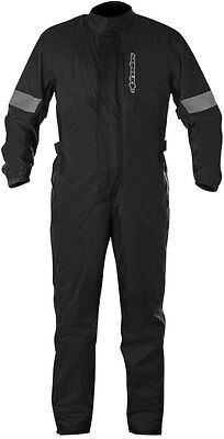 Alpinestars HURRICANE 1-Piece Motorcycle Rain Suit (Black) Choose Size