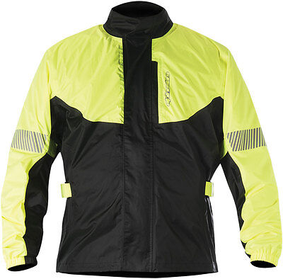 Alpinestars HURRICANE Motorcycle Rain Jacket (Flo Yellow/Black) Choose Size