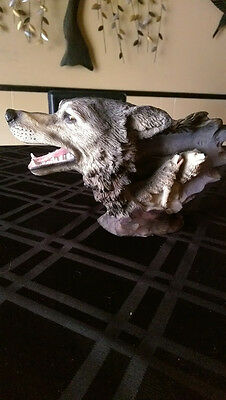 Classic Wildlife Collection Wolf Head with 2 baby wolves