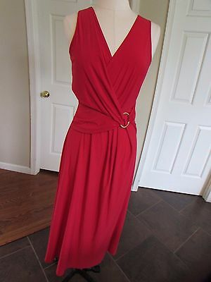 NWT Anthony women's Red Stretch Sleeve Long Dress Size Small