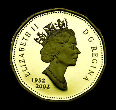 """2002 Canadian proof """"loonie"""" $1 coin - ultra cameo BU"""