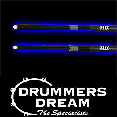Flix Tips Specialty Rock Drum Sticks -Black With Tone Control Rings BAND NEW