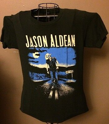 Jason Aldean Night Train Concert Tour Shirt Adult Small Country Music Band