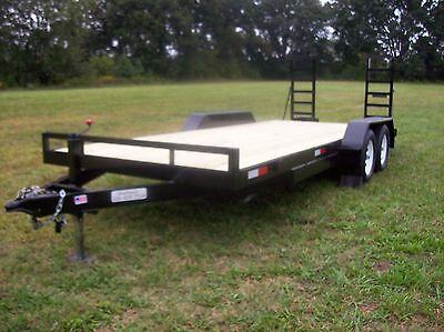 NEW 2016  6 1/2 x 18' 7K EQUIPMENT FLATBED TRAILER  BOBCAT TRACTOR