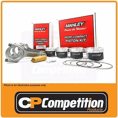Manley Piston & H Tuff Rod Set  MITS. 4G63T 7 BOLT 86 Bore / 88 Stroke -12cc E-D