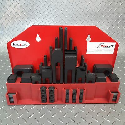 CLAMPING KIT STEP BLOCK SET 58 PIECE-Sizes M8 M10 M12 M16- MILLING DRILLING