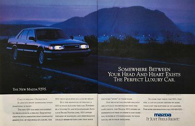 1989 MAZDA 929S The Perfect Luxury Car Photo 2 page VINTAGE PRINT AD