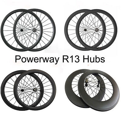 Utral Light 700C 24 38 50 60 88mm Clincher Tubular Road Bike Race Carbon Wheels