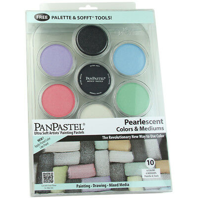 PanPastel Ultra Soft Artist Pastel Set 9ml 10/Pkg Pearlescent Colors & Mediums P