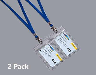 2 Clear Royal Caribbean Cruise Lines I.D. Holders & Lanyards ZIP LOCK SEALED NEW