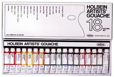 Holbein Japan Artists' Gouache Opaque Water Color 18 Colors Set Tube (5ml) G703