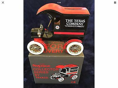 Vintage 1905 Ford Delivery Car Coin Bank Ertl Co Iowa USA NIB Die Cast Metal Toy