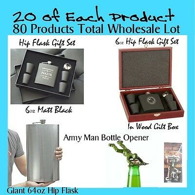 Wholesale Lot: 20x4 types (80 Units) of Bar /Gift Products for Retail FREE POST