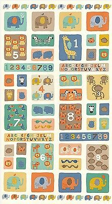 Baby Jungle Abc & 123 Quilt Panel * New * In Stock * Free Post *