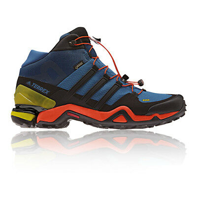 Adidas Terrex Fast R Mid Mens Blue Gore Tex Waterproof Walking Boots Shoes