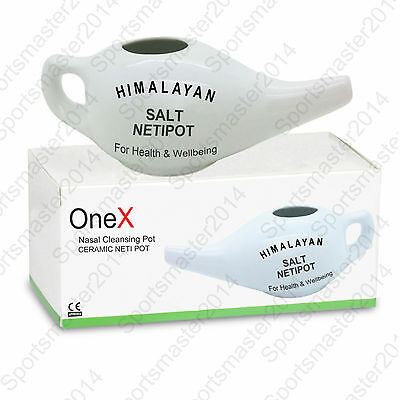 Nasal Nose Wash Neti Pot Yoga Detox Sinus Allergies Relief Rinse Ceramic