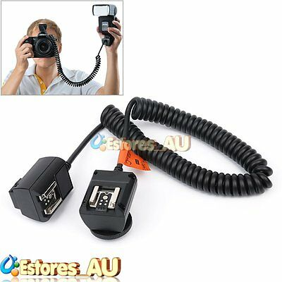 Godox TL-C Off-Camera Flash Speedlite TTL Hot Shoe Cable Cord 3M For Canon DSLR