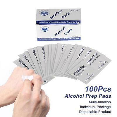 100Pcs Alcohol Prep Pads Antiseptic Sterilization Swabs Wipes Portable L5Z5