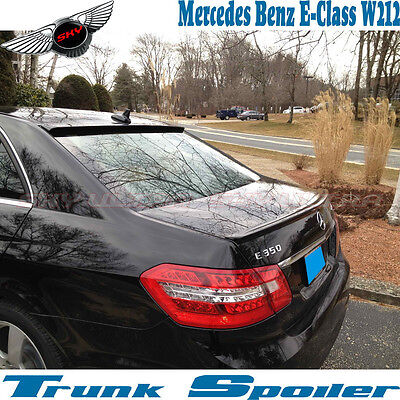 AMG Style Trunk Spoiler Stock For 10-16 Mercedes Benz W212 Sedan OE Rear Roof