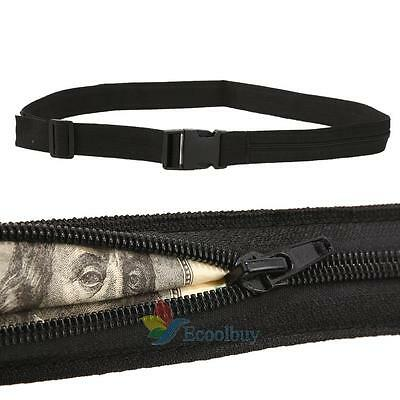 Secret Hidden Security Waist Money Belt Wallet Protect Zip Pocket Travel Pouch A