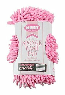 Kent P2439 2-in-1 Microfibre Noodle Car Valeting Shampoo Sponge Wash Pad - Pink
