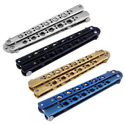 Professional Practice Butterfly Steel Trainer Knife  Outdoor Tool With Sheath LC