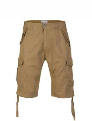 55 Soul Men's Cargo Shorts-Brown-Sizes Large & Mediuml_New/ Tags-casual trouser