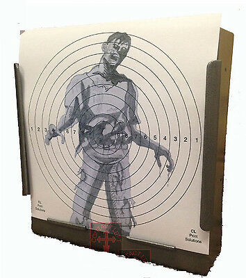 100 PACK 14cm11 Reactive Gun Rifle Pistol Shooting Targets Glow Shot - Zombies