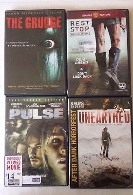 The Grudge Rest Stop Pulse Unearthed Lot of 4 Thriller Horror Movie DVD
