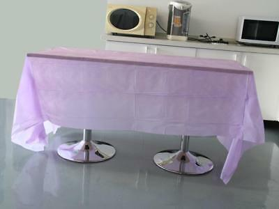 Light Purple Plastic Couvre-Table Tablecloth Rectangular Tablecovers 54