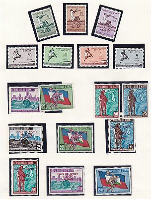 Haiti  1958 - 64  Various Sports Olympics & Long Jump Set Mnh S 046