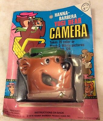 Vintage New Box 1976 Yogi Bear Camera Collectable Kodak Hanna Barbera Hong Kong