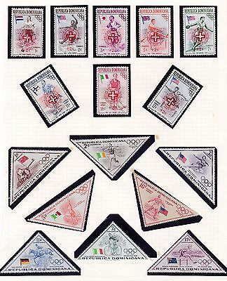 Dominican Republic  1957  Refugee Set & Olympic Games Set    Mnh