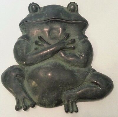 Yoga Frog Wall Plaque, Green