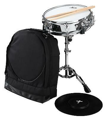 Snare Drum Percussion Starter Kit Sticks Support Stand Gigbag Silencer Drumkey