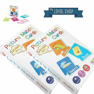 Picture Match Flash Cards Puzzle - Lets Learn - Fun Early Learning