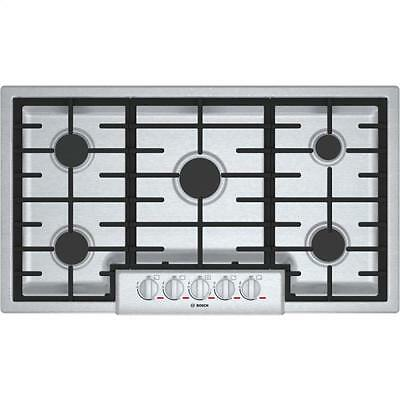 """BOSCH Benchmark Series 36"""" Gas Cooktop In Stainless Steel NGMP655UC"""