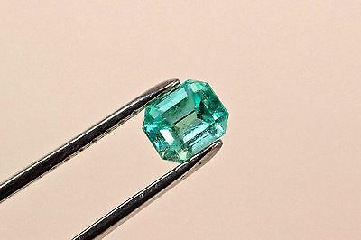 1.5 Carat Emerald Cut Natural Colombian Emerald Loose Gemstone