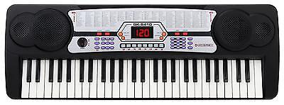 Clavier Piano Numerique Keyboard 54 Touches 100 Sons Rythmes Microphone Pupitre