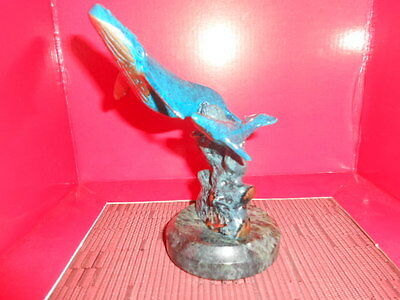 Blue Whale Statue Bronze Humpback Fish Ocean Wildlife Figurine
