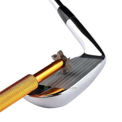 Iron Wedge Golf Club Groove Sharpener Tool with 6 Cutters for Optimal Backspin