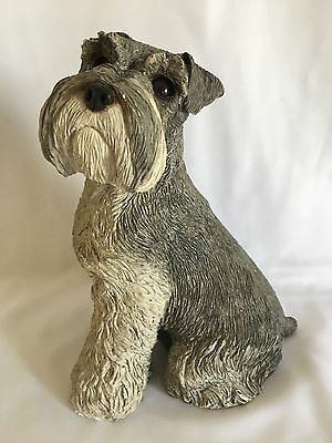 Vintage Large Sandiest Figurine Schnauzer by Brue, Handcast & Hand Painted.