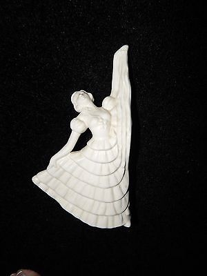Antique Vintage 1940s White Dancing Lady Figurine