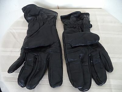 Women's Black Unbranded Genuine Leather Hand Gloves. XL. Insulated.