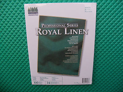 New Royal Linen Professional Series White Resume, Stationery Paper 24# 100 shts.