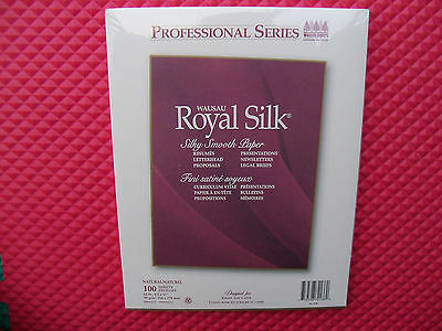 New Royal Silk Professional Series Natural Resume, Stationery Paper 24# 100 sht.