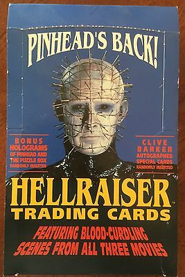 Hellraiser - Complete Set Of Trading Cards + Box + Empty Wrappers